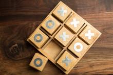 O Wins On Tic Tac Toe Game Board
