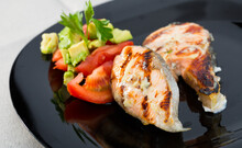 Grilled Salmon Served With Fre...