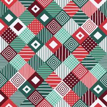 Christmas Patchwork Seamless P...