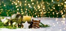 Christmas Ball With Burning Ca...