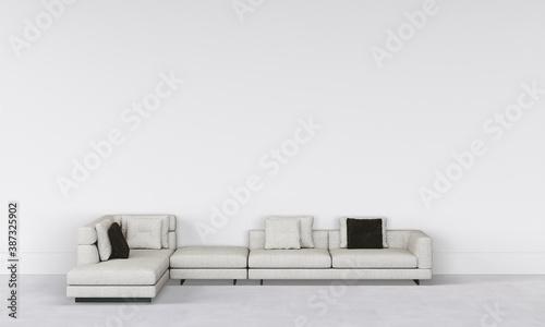 Obraz na plátně modern interior with sofa