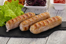 Grilled Sausages Served Mushro...