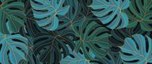 Tropical Leaf Wallpaper, Luxur...