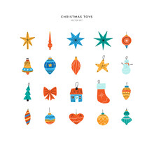 Set Of Different Christmas Tre...
