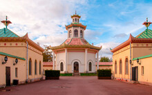 Chinese Village In The Alexander Park, Tsarskoe Selo, Russia. Summer Residence Of Russian Emperors.
