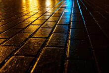 Beautiful Night Pavement In Th...
