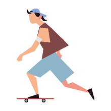 Young Man Riding Skateboard Activity Sport Lifestyle Outdoor