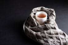 A Cup Of Hot Tea Wrapped In A ...