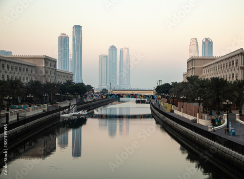 A view of life on the banks of a water channel
