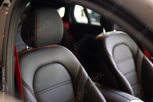 Fotografie, Obraz Close up and interior details of modern luxury sport cars