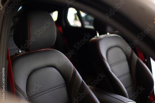 Obraz na plátně Close up and interior details of modern luxury sport cars