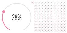 Set Of Circular Sector Percent...