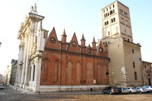 Mantua, Italy: A Side View Of The Cathedral Of St Peter