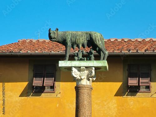 Monument Capitoline she-wolf in Pisa, Italy Tapéta, Fotótapéta