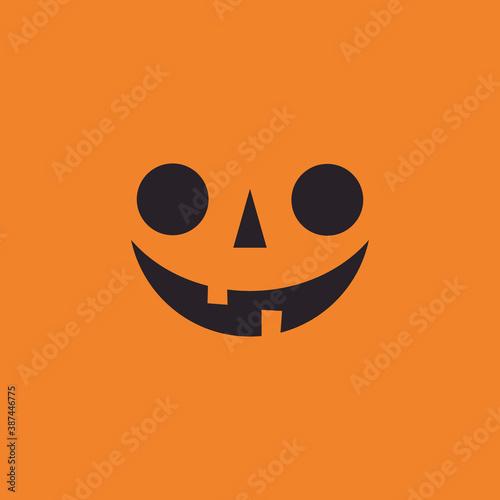 Платно Halloween pumpkin face icon