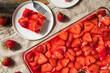 Leinwandbild Motiv Homemade Strawberry Pretzel Salad