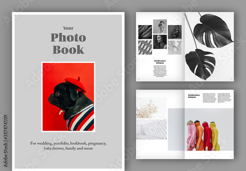 Obraz Photo Album Book Layout - fototapety do salonu