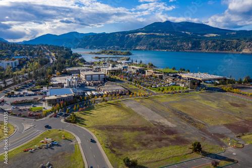 Fototapeta Hood River Aerial