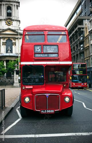 red double decker bus Canvas Print