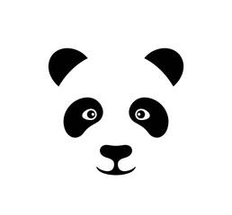 Panel Szklany Panda Panda head logo. Isolated panda head on white background