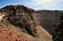 Crater Of Volcano Vesuvius, It...