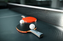 Ping Pong Rackets And Ball At ...