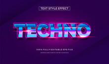 Modern Editable Text Style Effect Illustrator. Vector Design Template.