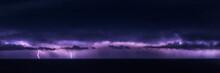 A Panorama Of A Lighting Storm...