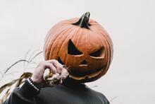 Isolated Spooky Halloween Pump...