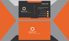 Clean Modern Professional Visiting Card.