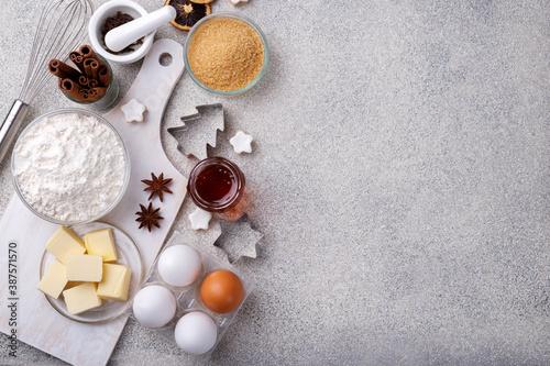 Fototapeta Winter holidays baking background obraz