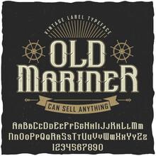 Old Mariner Vintage Poster