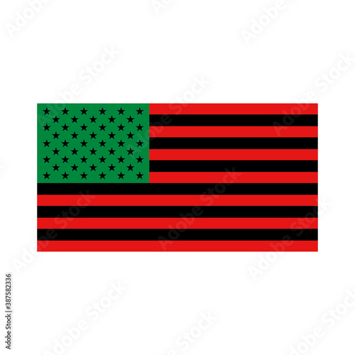 Fototapeta African American Flag vector isolated on white background. Black Lives Matter campaign symbol modern, simple, vector, icon for website design, mobile app, ui. Vector Illustration.  obraz na płótnie