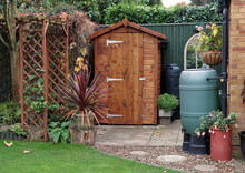 Garden Shed With Water Butts