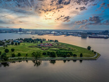 Aerial View Of Fort McHenry In...