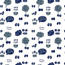 Seamless Pattern Monster Eyes For Kids T Shirt Design