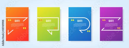 Fototapeta Quote speech bubble blank templates set.