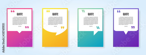 Fototapeta Quote speech bubble blank templates set. obraz