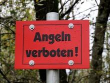 Rotes Schild Angeln Verboten