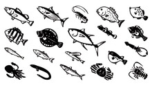 Japanese Saltwater Fish Vector...