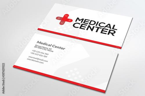 Fotografia, Obraz Nowoczesna, prosta wizytówka centrum medyczne, lekarz