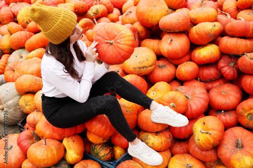 Fotografía pumpkins and gourds
