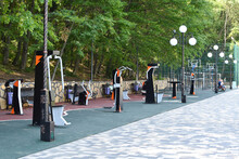 A Sports Hall In A City Park I...