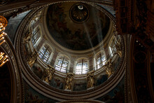 Interior Of Church Isaac Cathedral St Petersburg