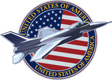 The Symbol Of The United States Air Force With The US Flag