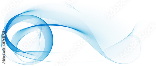 Fotografia, Obraz abstrakt linien wellen weiß bewegung banner