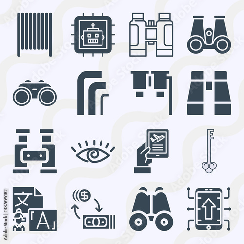 Photo Simple set of  16 filled icons on following themes {ico_titles}