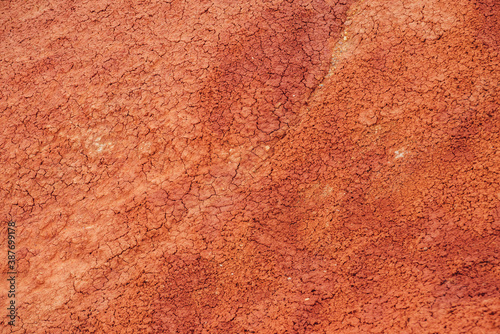 Foto Nature background of cracked dry lands