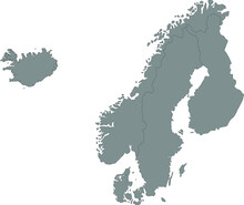 Nordic Countries Map