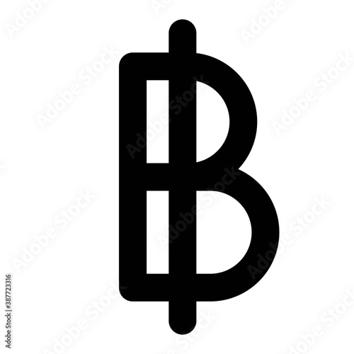 Obraz na plátne Thai baht sign, official currency of Thailand
